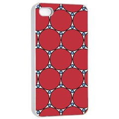 Circle Red Purple Apple iPhone 4/4s Seamless Case (White)