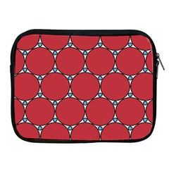 Circle Red Purple Apple iPad 2/3/4 Zipper Cases