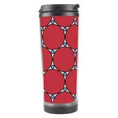 Circle Red Purple Travel Tumbler