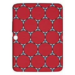 Circle Red Purple Samsung Galaxy Tab 3 (10.1 ) P5200 Hardshell Case