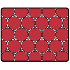 Circle Red Purple Double Sided Fleece Blanket (Medium)