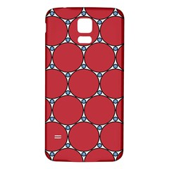 Circle Red Purple Samsung Galaxy S5 Back Case (White)