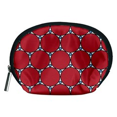 Circle Red Purple Accessory Pouches (Medium)