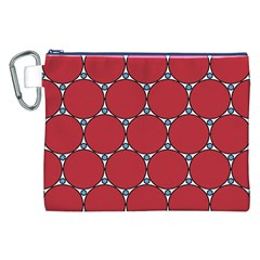 Circle Red Purple Canvas Cosmetic Bag (XXL)