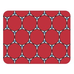 Circle Red Purple Double Sided Flano Blanket (Large)