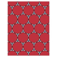 Circle Red Purple Drawstring Bag (large)