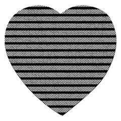 Black White Line Fabric Jigsaw Puzzle (Heart)