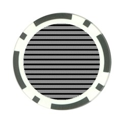 Black White Line Fabric Poker Chip Card Guard (10 pack)