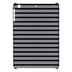 Black White Line Fabric Apple iPad Mini Hardshell Case