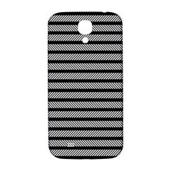 Black White Line Fabric Samsung Galaxy S4 I9500/I9505  Hardshell Back Case