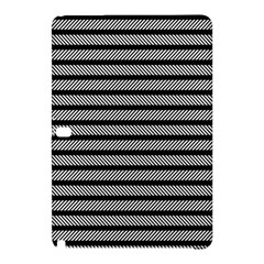 Black White Line Fabric Samsung Galaxy Tab Pro 10.1 Hardshell Case