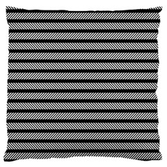 Black White Line Fabric Standard Flano Cushion Case (Two Sides)