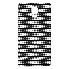Black White Line Fabric Galaxy Note 4 Back Case
