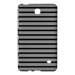 Black White Line Fabric Samsung Galaxy Tab 4 (8 ) Hardshell Case
