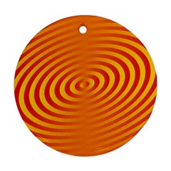 Circle Line Orange Hole Hypnotism Ornament (Round)