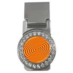 Circle Line Orange Hole Hypnotism Money Clips (CZ)