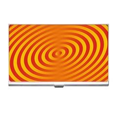 Circle Line Orange Hole Hypnotism Business Card Holders
