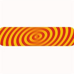 Circle Line Orange Hole Hypnotism Large Bar Mats