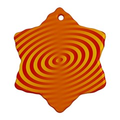 Circle Line Orange Hole Hypnotism Ornament (Snowflake)