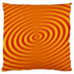 Circle Line Orange Hole Hypnotism Large Cushion Case (One Side)