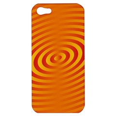 Circle Line Orange Hole Hypnotism Apple iPhone 5 Hardshell Case