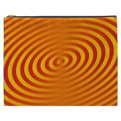 Circle Line Orange Hole Hypnotism Cosmetic Bag (XXXL)