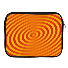 Circle Line Orange Hole Hypnotism Apple iPad 2/3/4 Zipper Cases