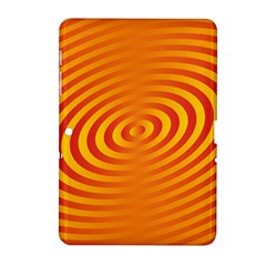Circle Line Orange Hole Hypnotism Samsung Galaxy Tab 2 (10.1 ) P5100 Hardshell Case