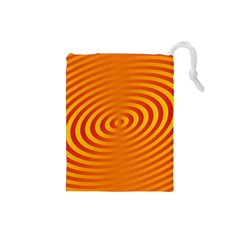 Circle Line Orange Hole Hypnotism Drawstring Pouches (Small)