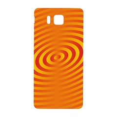 Circle Line Orange Hole Hypnotism Samsung Galaxy Alpha Hardshell Back Case