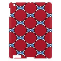 Circle Blue Purple Big Small Apple iPad 3/4 Hardshell Case