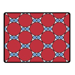 Circle Blue Purple Big Small Double Sided Fleece Blanket (Small)