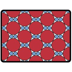 Circle Blue Purple Big Small Double Sided Fleece Blanket (Large)