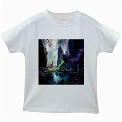 Fantastic World Fantasy Painting Kids White T-Shirts