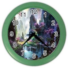 Fantastic World Fantasy Painting Color Wall Clocks