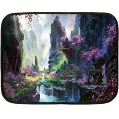 Fantastic World Fantasy Painting Fleece Blanket (Mini)