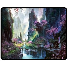 Fantastic World Fantasy Painting Fleece Blanket (Medium)