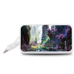Fantastic World Fantasy Painting Portable Speaker (White)