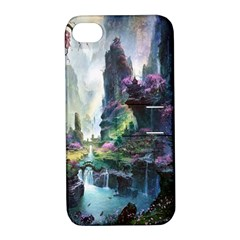 Fantastic World Fantasy Painting Apple iPhone 4/4S Hardshell Case with Stand