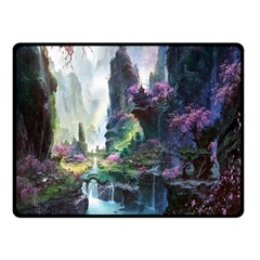 Fantastic World Fantasy Painting Double Sided Fleece Blanket (small)