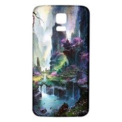 Fantastic World Fantasy Painting Samsung Galaxy S5 Back Case (White)