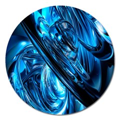 Blue Wave Magnet 5  (Round)