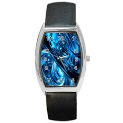 Blue Wave Barrel Style Metal Watch