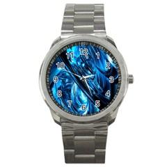 Blue Wave Sport Metal Watch
