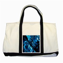 Blue Wave Two Tone Tote Bag
