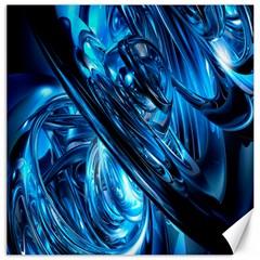 Blue Wave Canvas 20  x 20