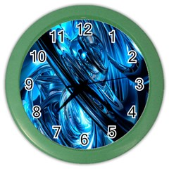 Blue Wave Color Wall Clocks