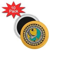 Madhubani Fish Indian Ethnic Pattern 1 75  Magnets (10 Pack)