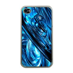 Blue Wave Apple iPhone 4 Case (Clear)