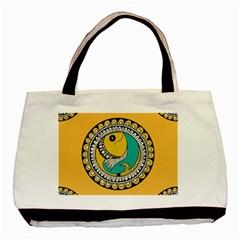 Madhubani Fish Indian Ethnic Pattern Basic Tote Bag